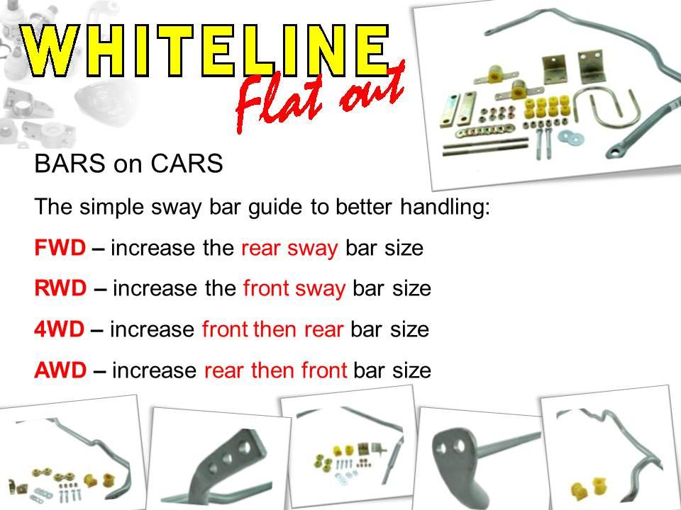 Whiteline Flatout Swaybars Explained